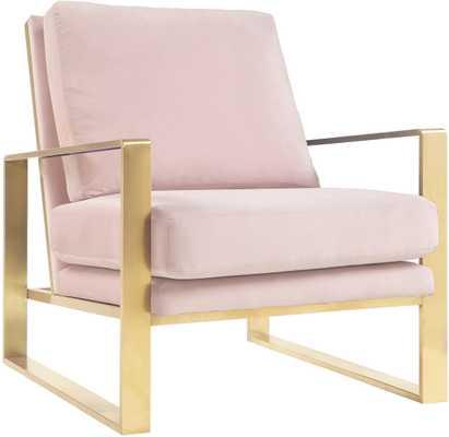 Zara Blush Velvet Chair - Maren Home