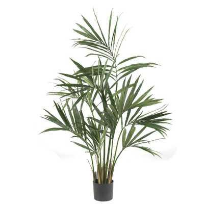 Nearly Natural 5 ft. Green Kentia Palm Silk Tree - Home Depot