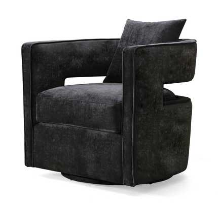 Kaelin Black Swivel Chair - Maren Home