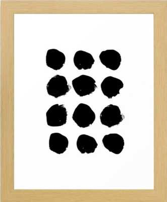 "Florence - black and white minimal modern art - 10"" x 12"" - Natural Frame - Society6"