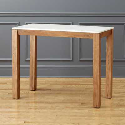 """""""palate marble 36"""""""" rectangular counter table"""" - CB2"""