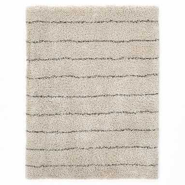 Striped Shag Rug, 8x10, Ivory/Charcoal - Pottery Barn Teen