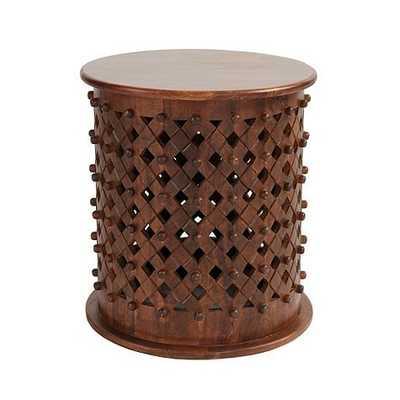Bornova Side Table - Brown - Ballard Designs