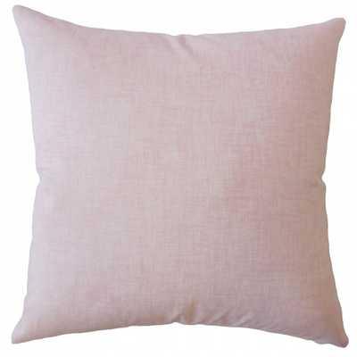 "Baojin Plaid Pillow Pink - 18"" x 18"" - Linen & Seam"