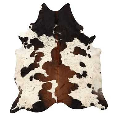 Black and Brown Spotted Cowhide Rug - Pottery Barn Teen
