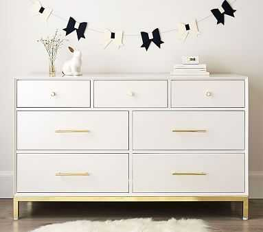 Flynn Extra-Wide Dresser, Simply White - Pottery Barn Kids