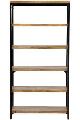 Anjou 5-Shelf Bookcase - Natural - Home Depot