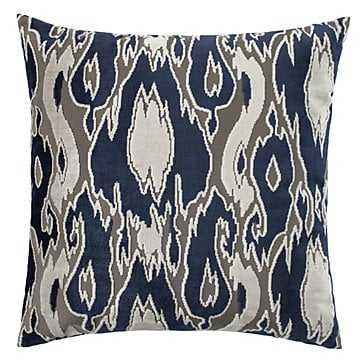 """Kinsley Pillow 24"""" - Sapphire - With insert - Z Gallerie"""