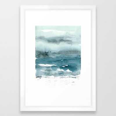 Dissolving Blues - Framed Art Print - Vector White Frame - Small - 15x21 - Society6