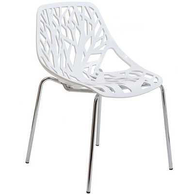 STENCIL DINING SIDE CHAIR IN WHITE - Modway Furniture
