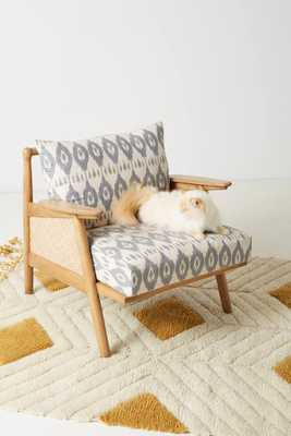 Washed Ikat Cane Chair - Anthropologie