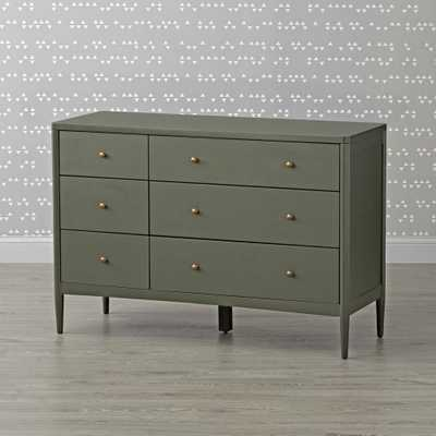 Kids Hampshire 6-Drawer Olive Green Dresser - Crate and Barrel