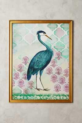 Blue Heron Wall Art - Anthropologie