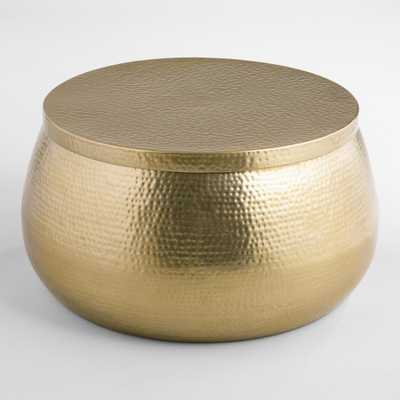 Gold Cala Hammered Coffee Table - Metal by World Market - World Market/Cost Plus