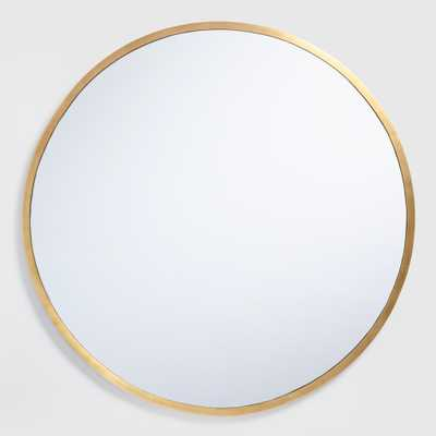 Sana Brass Mirror: Metallic/Gold by World Market - World Market/Cost Plus