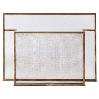 Smith & Hawken Carson Fireplace Screen Burnished Brass - Target