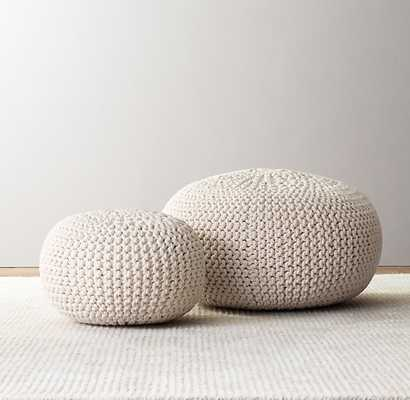 Knit cotton round pouf, Natural - Small - RH Baby & Child