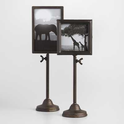 "Telescoping Tabletop Frames: Black - Metal - 4""x4"" by World Market 4""x4"" - World Market/Cost Plus"