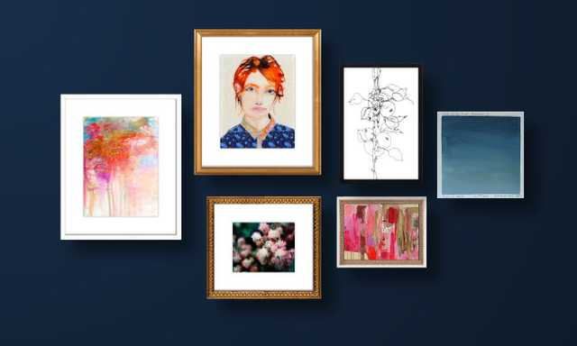 A Saturated Palette Gallery Wall - Artfully Walls