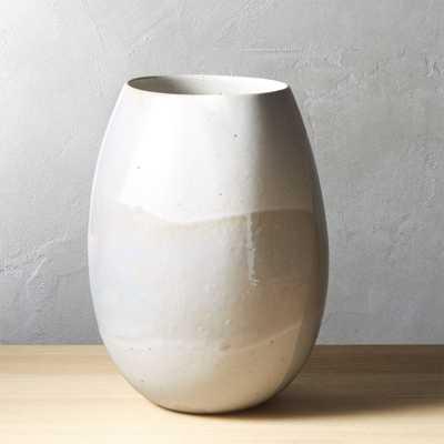 Diego Ivory Speckled Vase - CB2