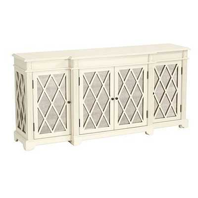 Lyon Mirrored Sideboard - Antique White - Ballard Designs