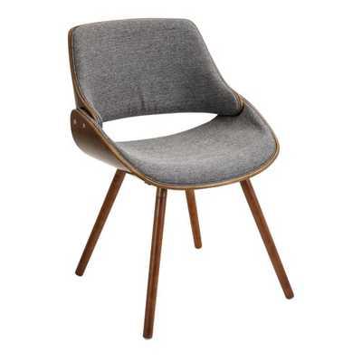 Fabrizzi Chair  - Walnut/Light Gray - Hollis Modern