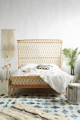 Curved Rattan Bed - Anthropologie