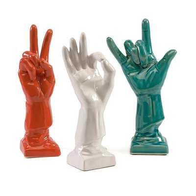 Cohen Ceramic Hands - Set of 3 - Mercer Collection