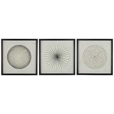 "Dainty Burst 2 /4"" High Wall Art Set of 3 - Lamps Plus"