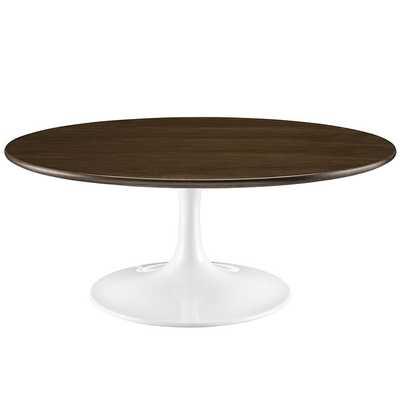 "LIPPA 40"" WOOD COFFEE TABLE IN WALNUT - Modway Furniture"