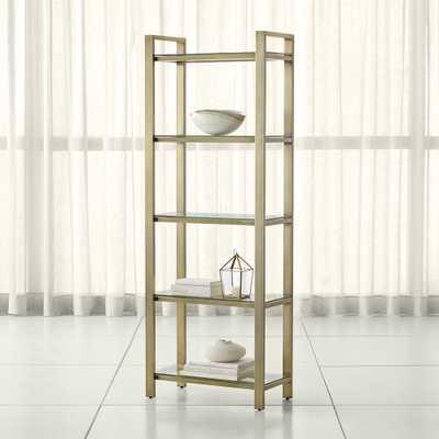 Pilsen Brass Bookcase - Crate and Barrel
