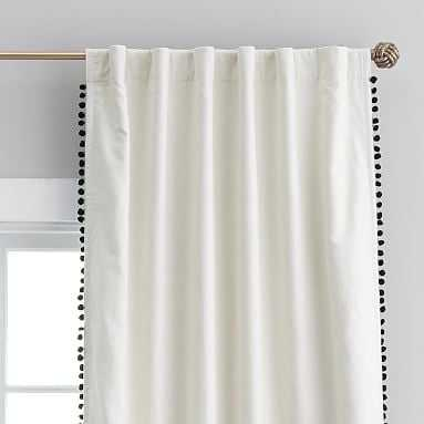 "Pom Pom Blackout Drape, 96"" - Pottery Barn Teen"