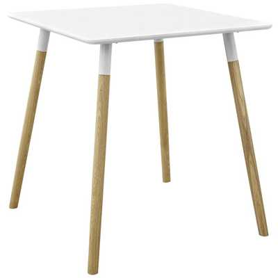"""CONTINUUM 28"""" SQUARE DINING TABLE IN WHITE - Modway Furniture"""