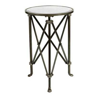 Olivia Mirrored Side Table - Oil Rubbed Bronze - Ballard Designs