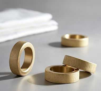 Matte Gold finish Napkin Ring, Set of 4 - Pottery Barn