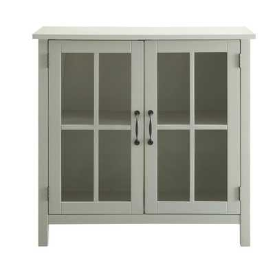 Olivia White Accent Cabinet and 2-Glass Doors - Home Depot