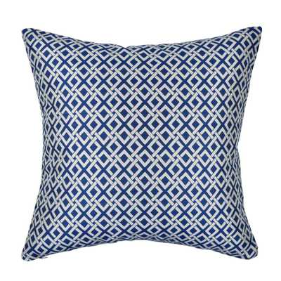 18 in. x 18 in. Modern Blue Pillow - Home Depot