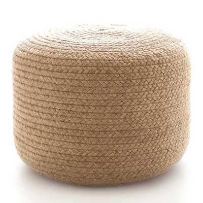 Braided Natural Indoor/Outdoor Pouf - Small - Dash and Albert