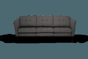 Burrow Sofa, Charcoal, 3 Seats, Low Arm with Walnut Leg - Burrow