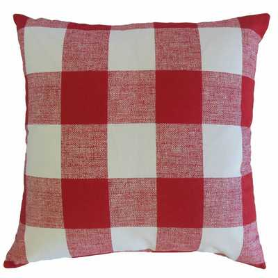 Yeriel Plaid Pillow Red - 18x18 poly insert - Linen & Seam