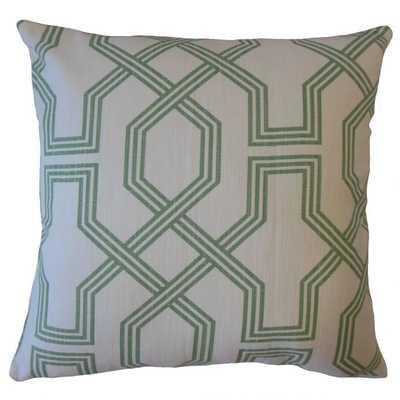 Eero Geometric Pillow Succulent, Down Insert - Linen & Seam