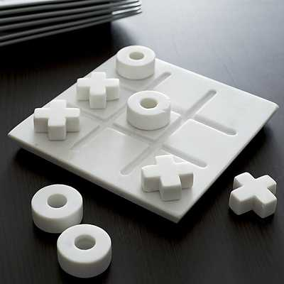 Marble Tic-Tac-Toe Game Set - Crate and Barrel
