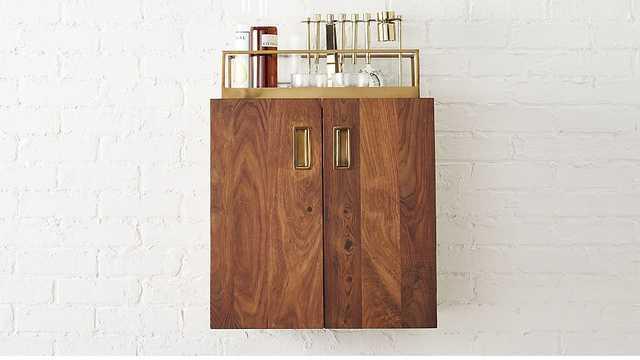 Wall mounted bar cabinet - CB2