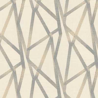 Tessellate - Lead, Fabric by the Yard - Loom Decor