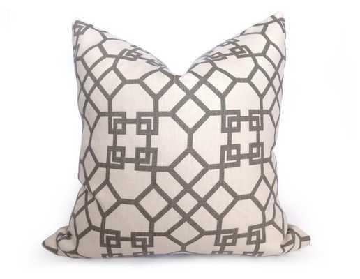 """Kravet Pelagos Linen Pillow Cover - Haze Gray - 20"""" x 20"""" - Without insert - Willa Skye"""