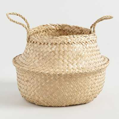 Natural Seagrass Floppy Emma Tote Basket by World Market - World Market/Cost Plus