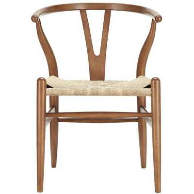 Amish Dining Wood Armchair in Walnut - Modway Furniture