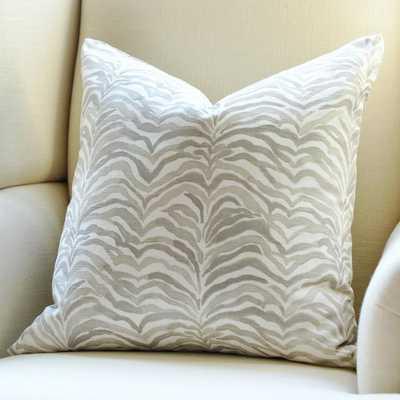 "Zebra Palm Pillow Cover - Gray - 18"" x 18"" - No Insert - Willa Skye"