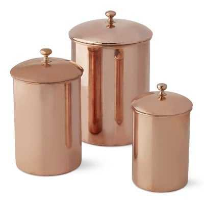 Copper Canisters, Set of 3 - Williams Sonoma
