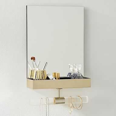 Ava Frosted Acrylic Mirror Jewelry Storage, Clear Frosted - Pottery Barn Teen